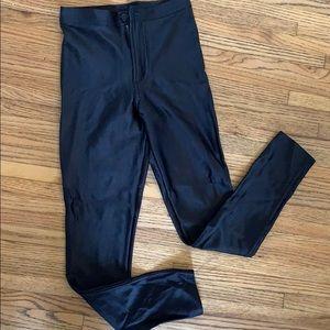 American apparel black high waisted leggings